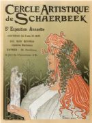Vintage French poster -  Artistic Club of Schaerbeek, 5th annual show (1897)